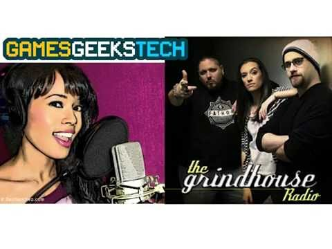 Photo of Adesina Sanchez, host of the Games Geeks Tech Talk, and the Grindhouse Radio crew.