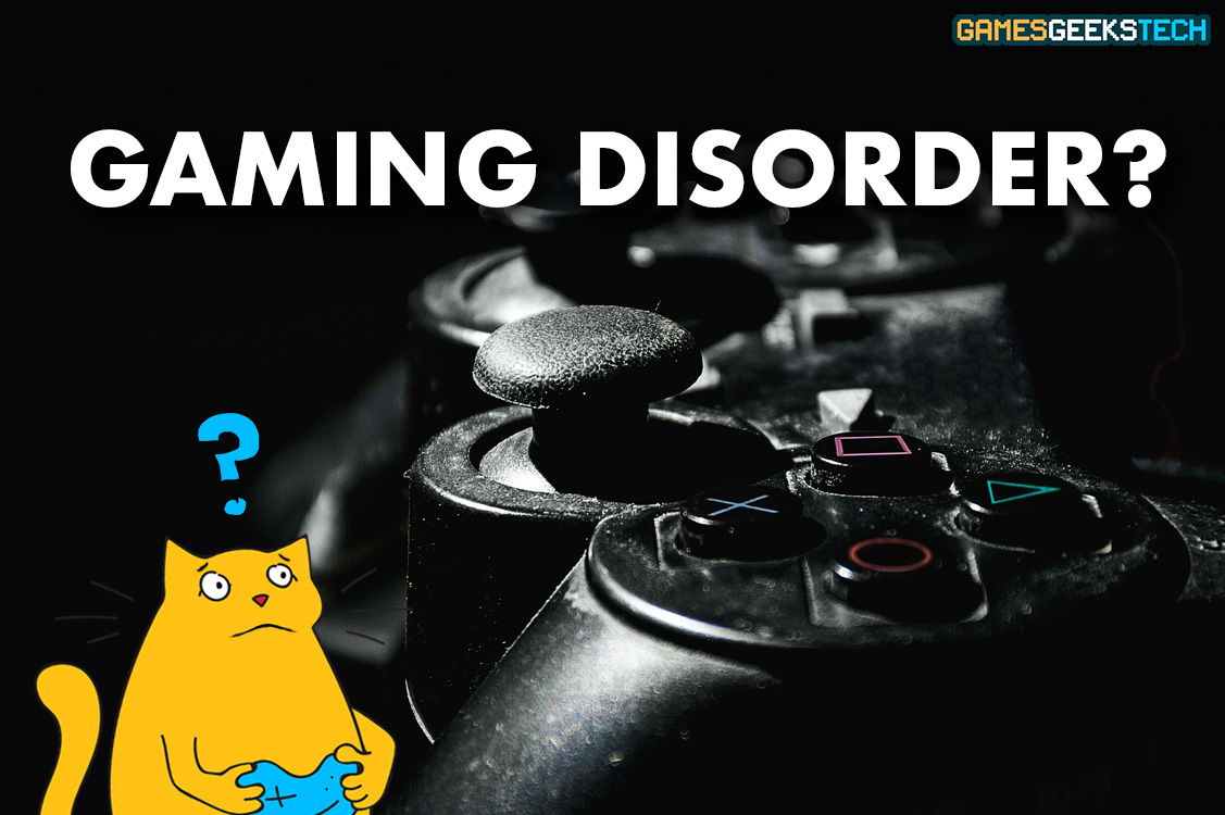 Image of GGT mascot Gus, looking puzzled over Gaming Disorder.