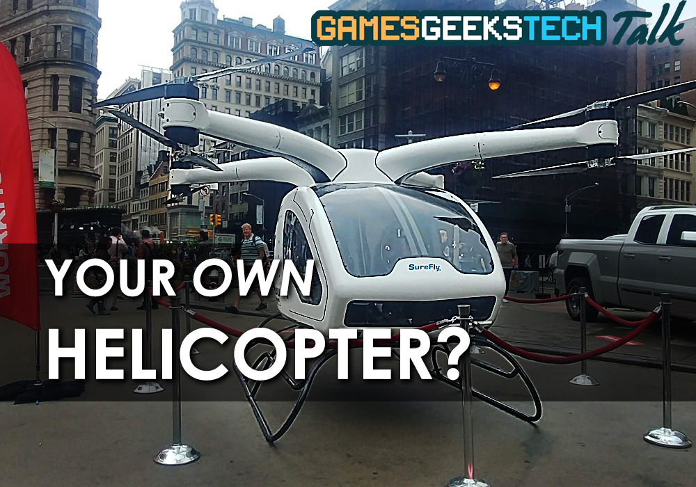Workhorse SureFly personal helicopter lands in NYC
